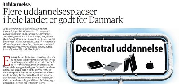 Kronik: Flere uddannelsespladser i hele landet er godt for Danmark